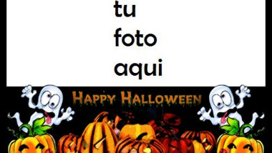 Photo of Calabaza Horrible Te Deseo Un Feliz Halloween Marco Para Foto