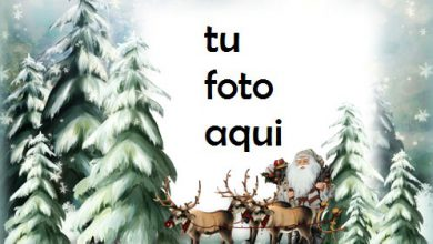 Photo of Santa En Camino Marco Para Foto