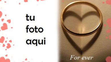 Photo of Marco Para Foto Anillo Romántico Amor Marcos