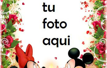 Photo of Marco Para Foto Cena Romántica De Mickey Y Minnie Mouse Amor Marcos