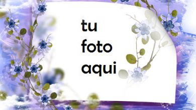 Photo of Marco Para Foto Cielo No Me Olvides Flores Amor Marcos