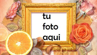 Photo of Marco Para Foto Rosas Y Naranja Amor Marcos