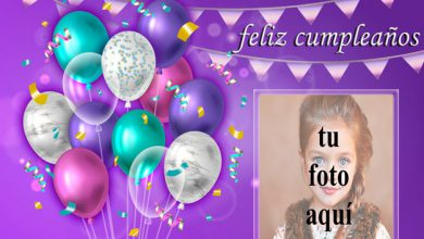 Photo of Marco de fotos de feliz cumpleaños con fiesta decorada 2