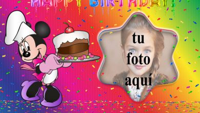 Photo of Pastel De Cumpleaños De Minnie Mouse Marco Foto