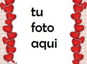 Delgados Corazones Rojos Para El Día De San Valentín Marco Para Foto 300x220 - Delgados Corazones Rojos Para El Día De San Valentín Marco Para Foto