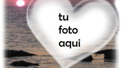 Puesta De Sol Y Corazón Sobre El Mar Marco Para Foto 390x220 - Puesta De Sol Y Corazón Sobre El Mar Marco Para Foto