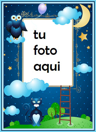 Un Cuadro De Buenas Noches Con Luna Y Estrellas. Marcos Para Foto - Un Cuadro De Buenas Noches Con Luna Y Estrellas. Marcos Para Foto