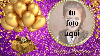 Feliz Cumpleaños Con Globos Dorados Marcos para fotos 390x220 - Feliz Cumpleaños Con Globos Dorados Marcos para fotos