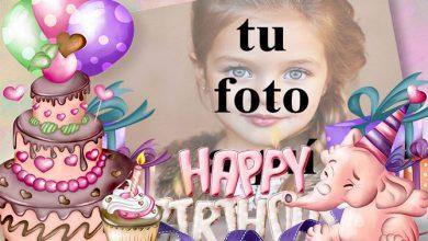 Tarjeta De Feliz Cumpleaños Con Buen Pastel Marcos para fotos 390x220 - Tarjeta De Feliz Cumpleaños Con Buen Pastel Marcos para fotos