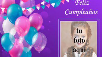 marco de fotos de feliz cumpleaños con bonitos globos de colores 390x220 - marco de fotos de feliz cumpleaños con bonitos globos de colores