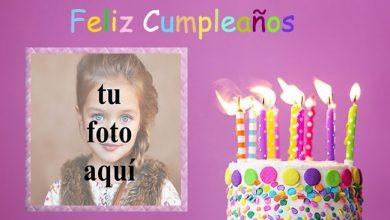 marco de fotos de feliz cumpleaños con pastel de m y m 390x220 - marco de fotos de feliz cumpleaños con pastel de m y m