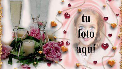 marco de fotos de bebida romantica con marco de amor 390x220 - marco de fotos de bebida romántica con marco de amor
