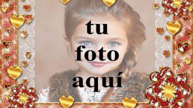 marco de fotos dorado romantico con muchos corazones pequenos 390x220 - marco de fotos dorado romántico con muchos corazones pequeños