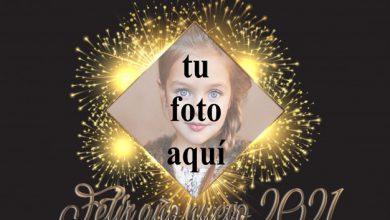 Feliz ano nuevo 2021 marco de fotos dorado 390x220 - Feliz año nuevo 2021 marco de fotos dorado
