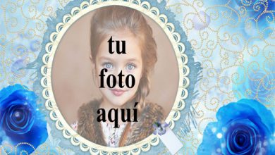marco romantico azul con marco de fotos rosa amor azul 390x220 - marco romántico azul con marco de fotos rosa amor azul