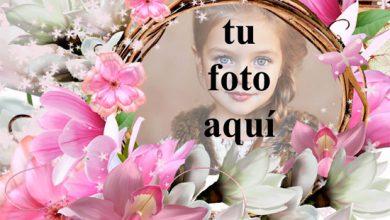 nido de flores marco de fotos muy romantico 390x220 - nido de flores marco de fotos muy romántico